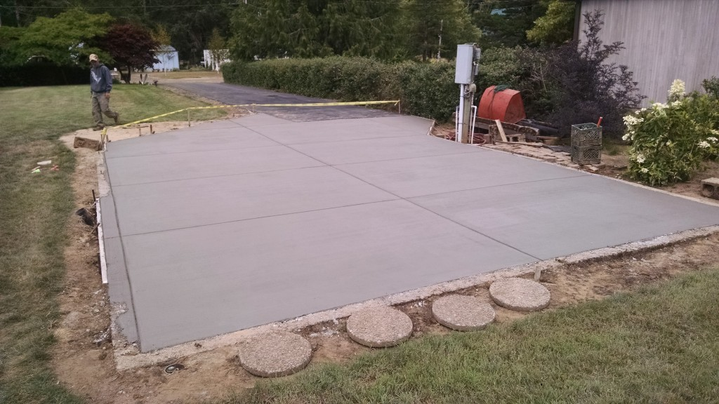 Broomed concrete sidewalk