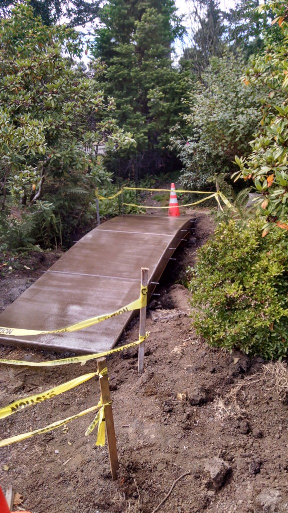 Custom concrete bridge