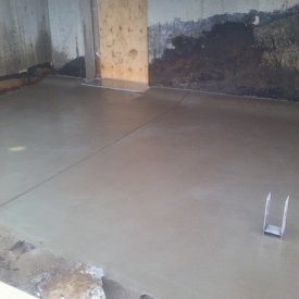 Acid wash concrete patio