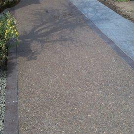 Custom concrete sidewalk