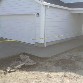 broomed driveway and side walk