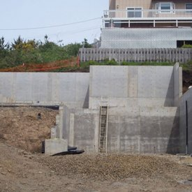 Concrete walls and fundation work