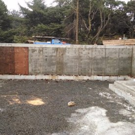 Concrete foundation walls