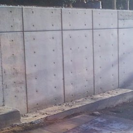 custom concrete Retaining wall