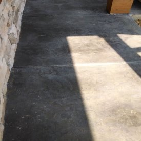 Slate stamped concrete patio