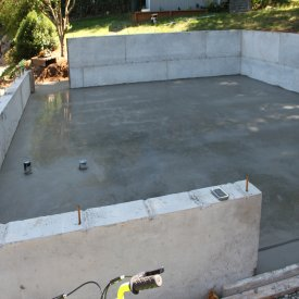 concrete slab for garage