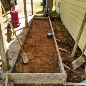 concrete pathway setup