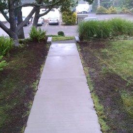 broomed sidewalk