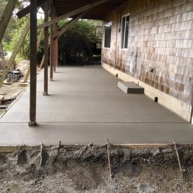 Custom concrete patio